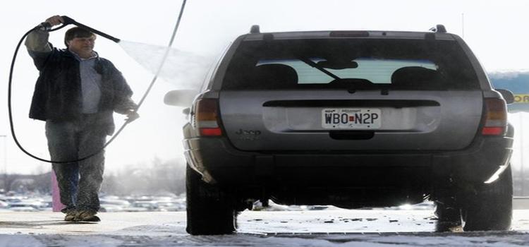 Winter car wash