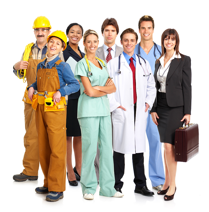 Muncitori fericiti